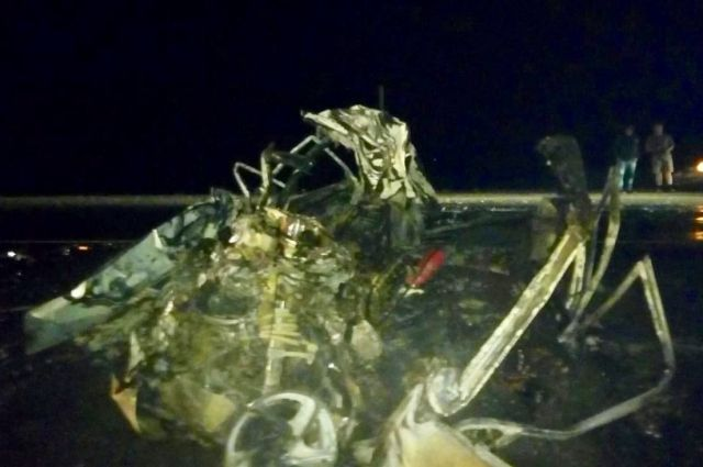 В Башкирии столкнулись ВАЗ-2114 и грузовик «Скания»: Видео