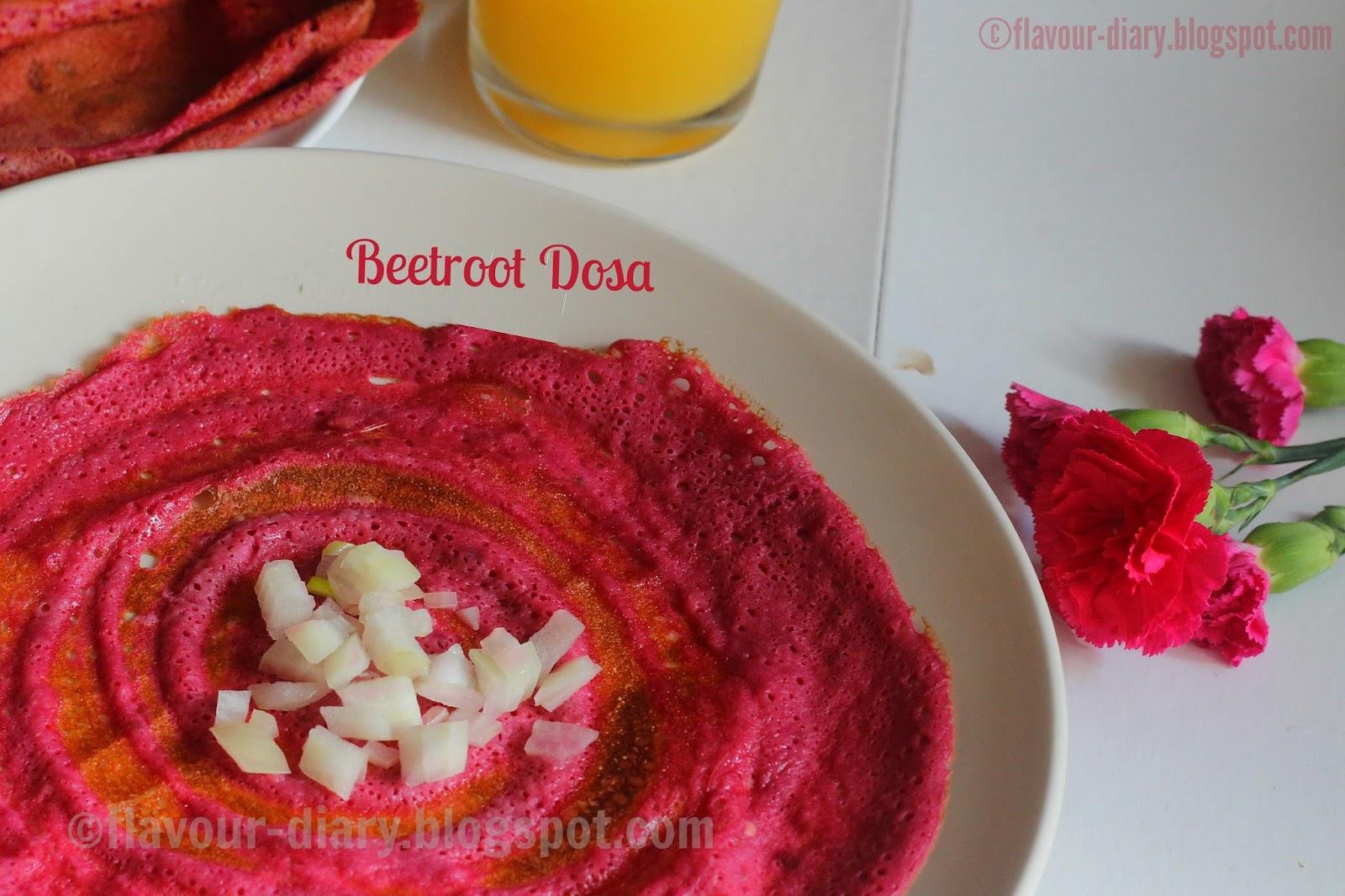 Beetroot Dosa Recipe