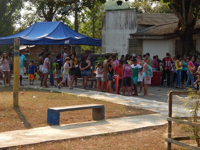 Domingo espetacular no bairro Marchal Rondon Instituo IVAS (Foto: Assessoria)