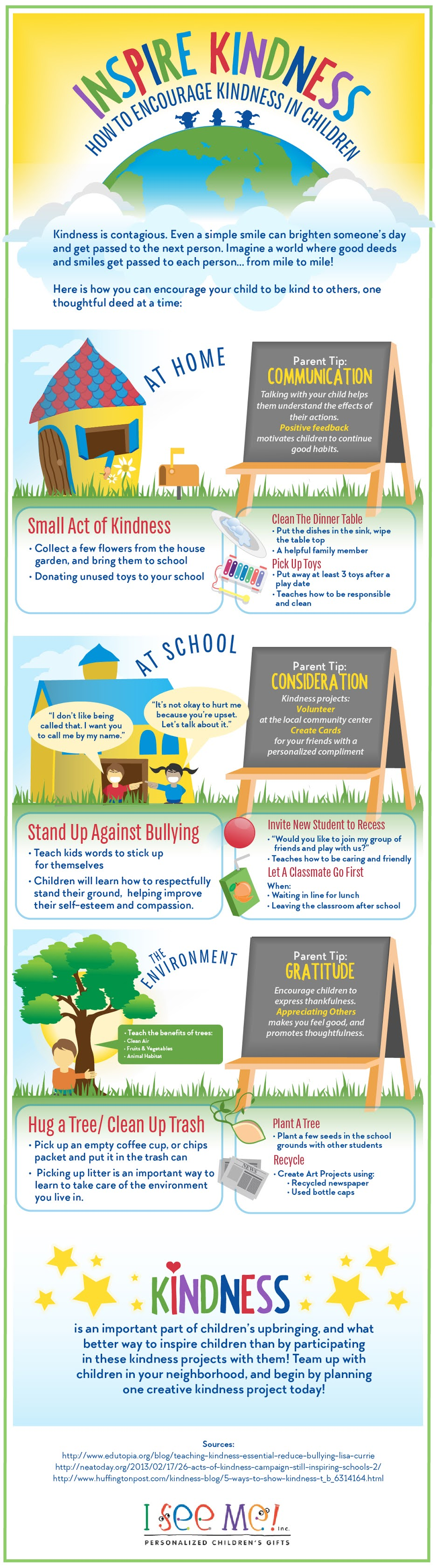 How to Encourage Kindness in Children #infographic
