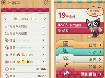小月曆 - 女性日記 APK/ APP 下載,月經週期計算(經期)、排卵日受孕期計算追蹤軟體,Android 版