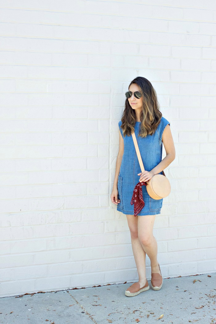 chambray dress for summer