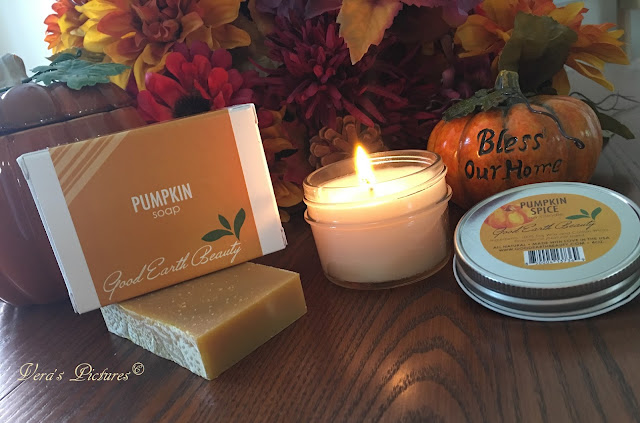 Pumpkin Spice Soy Candle & Pumpkin Soap