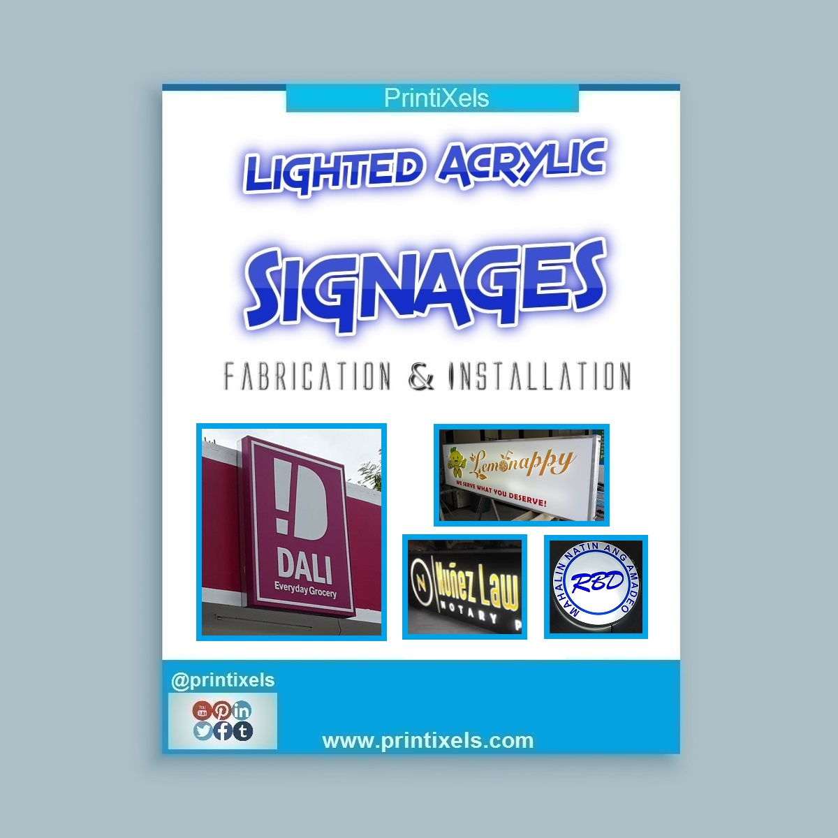 Lighted Acrylic Signages - Fabrication & Installation