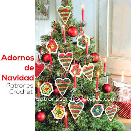 Compartiendo crochet en castellano ovillos y navidad for Adornos navidenos tejidos a crochet 2016