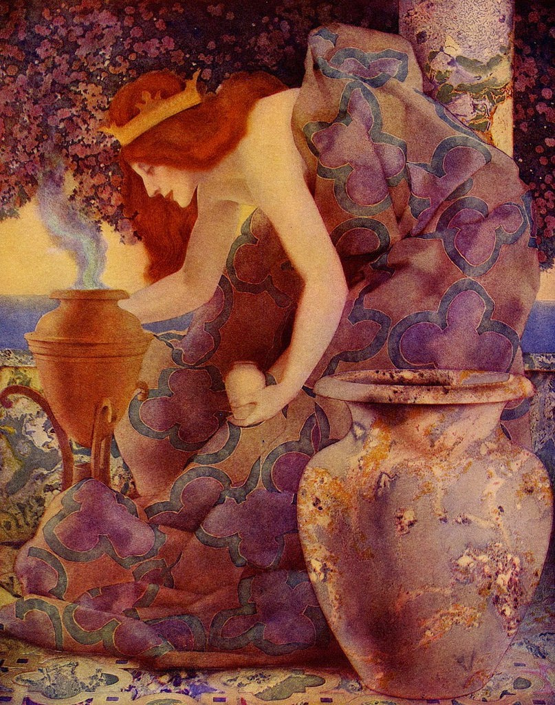 Maxfield  PARRISH Queen Gulnare