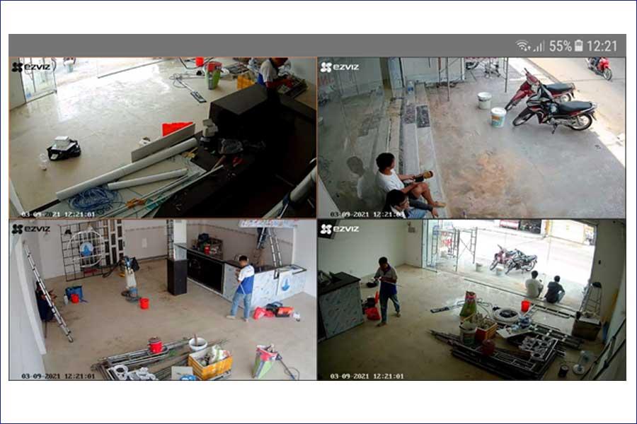Lắp đặt camera cho cửa hàng Sữa Chua
