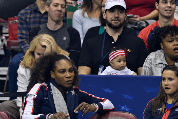 alexis-ohanian-babysits-daughter-as-serena-williams-returns-to-court