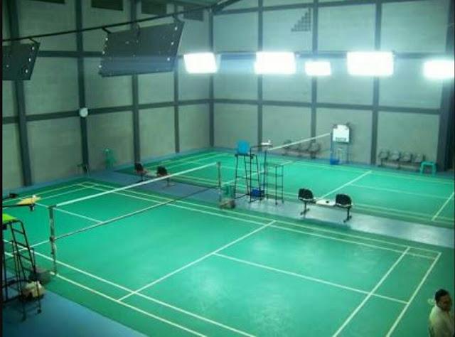 cat lapangan tenis