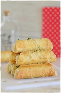 Receta de Canelones crujientes de brandada de bacalao- aperitivo- entrante- pincho-receta fácil- receta sencilla