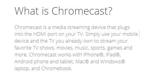 What is Chromecast?