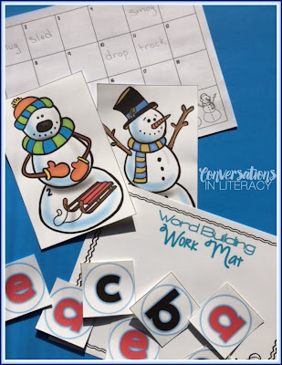 Snowman Blends and Digraphs Word Building