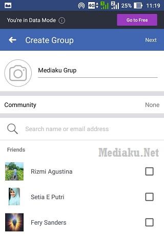 Buat Grup Facebook Lewat HP