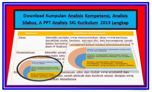 Download Kumpulan Analisis Kompetensi, Analisis Silabus, A PPT Analisis SKL Kurikulum 2013 Lengkap File Terbaru
