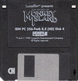 Disco DOS para IBM PC The Secret of Monkey Island