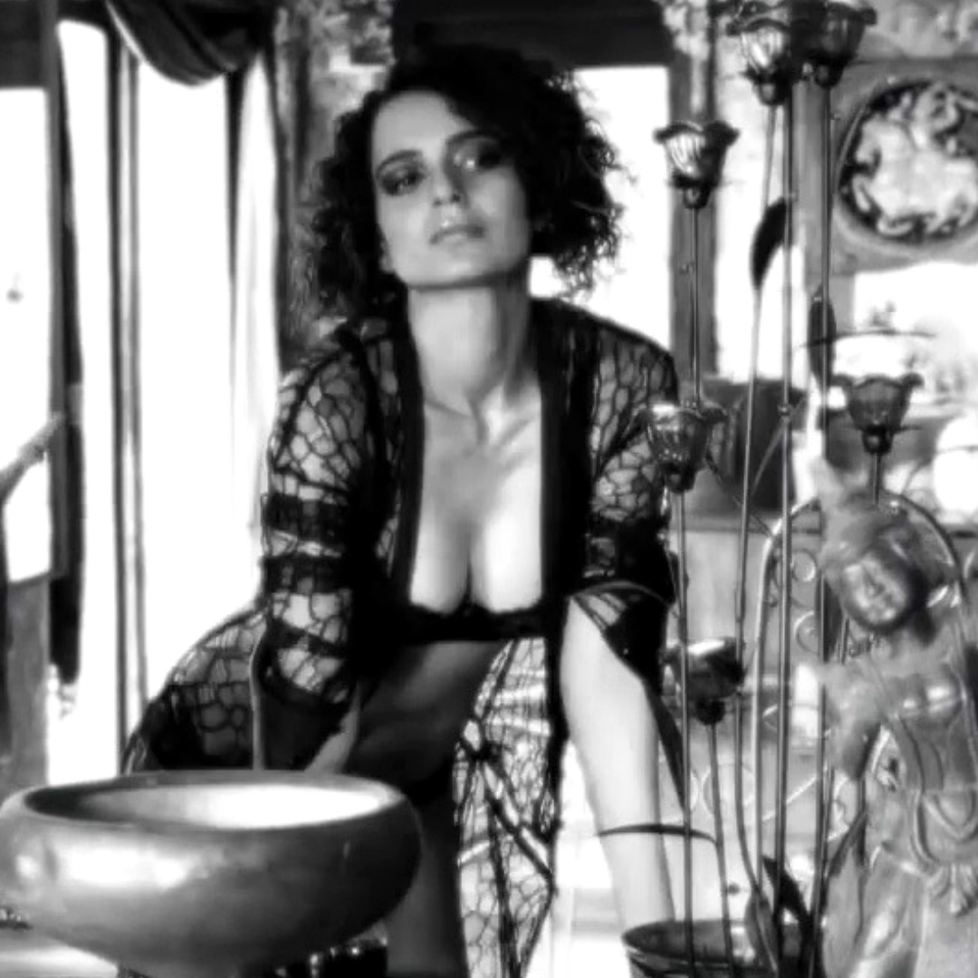 kangana Ranaut in black bikini and lingerie
