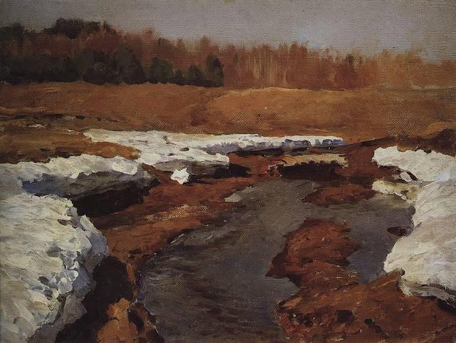 Исаак Ильич Левитан - Весна. Последний снег (2). 1895