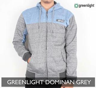 Sweater Green Light Dominan Grey
