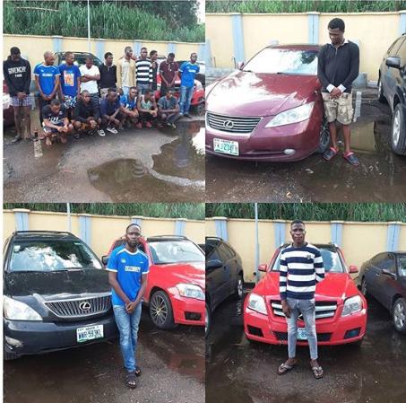 EFCC arrests 16 suspected yahoo boys in Delta