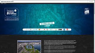 La page d'accueil du site internet du Marathon de Genève