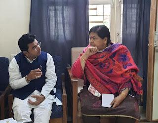 बुरहानपुर को बनाएंगे पर्यटन नगरी, भाजपा जिलाध्यक्ष ने की कैबिनेट मंत्री उषा ठाकुर से मुलाकात