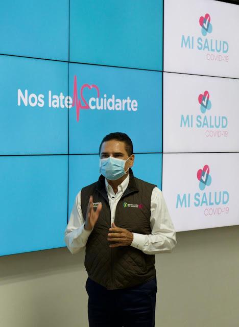 Presenta Gobernador Mi Salud, App exclusiva para pacientes con COVID-19