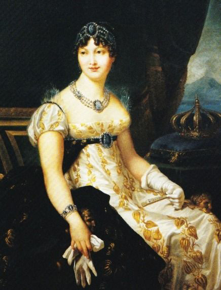 Caroline Murat in a painting by François Gérard or his workshop - circa 1812