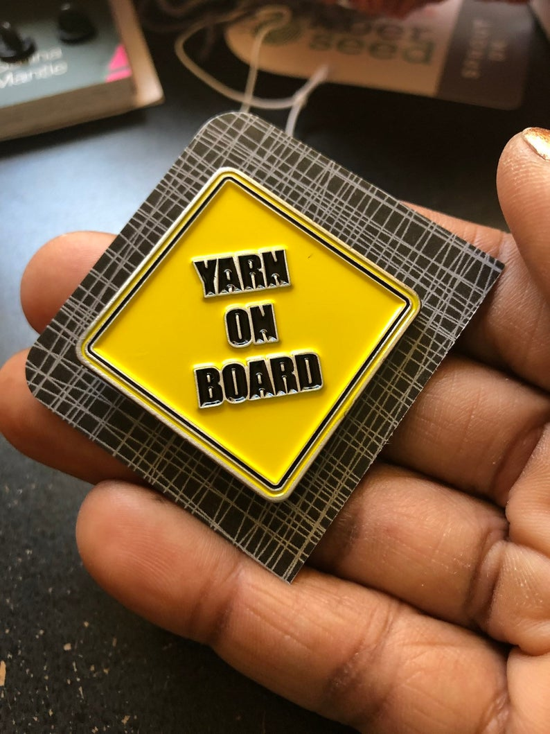 Gift Guide: Enamel Pins for Yarn Lovers