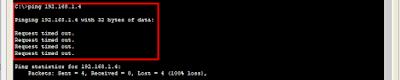 Ping setelah VLAN Aktif ke PC Dosen 1