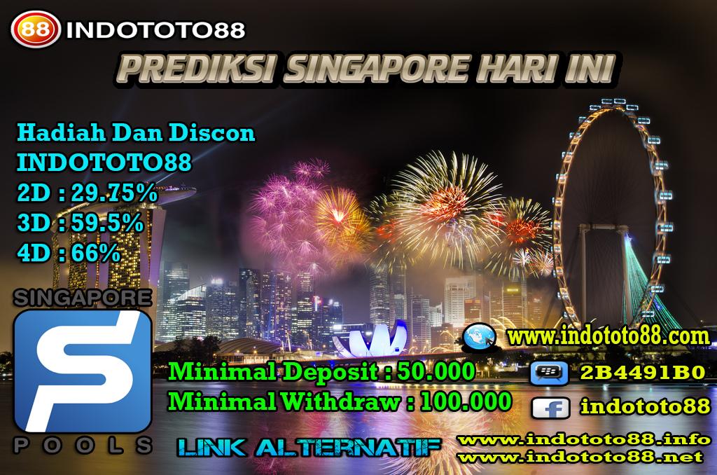 Prediksi Togel Indototo88 Pasaran SINGAPORE Untuk Hari Ini