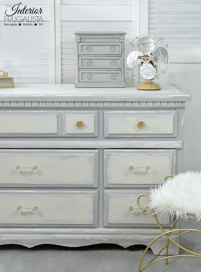 Vintage 9-Drawer Glossy to Farmhouse Dresser