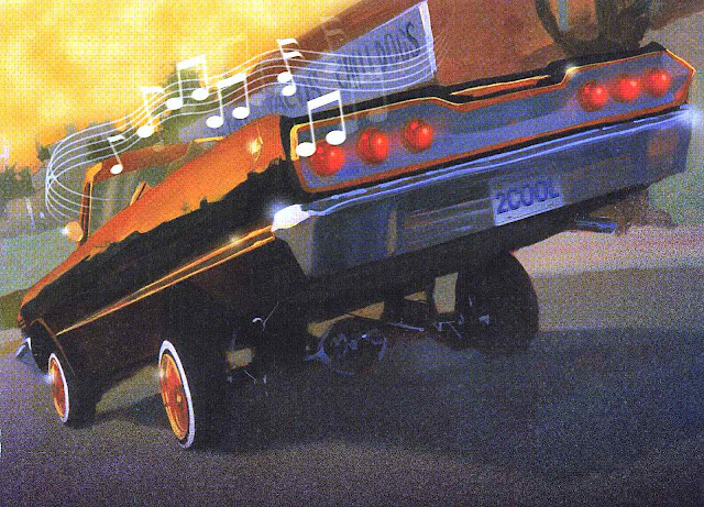 a Lee Ballard children's book illustration of a hotrod car