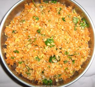 Carrot Kosambari for Rama Navami