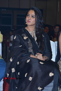 Actress Anushka Anushka Shetty Stills in Black Salwar Kameez at Om Namo Venkatesaya Audio Launch Event  0007.JPG