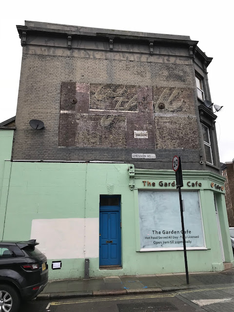 Ghost sign, Chesson Road, Fulham, London