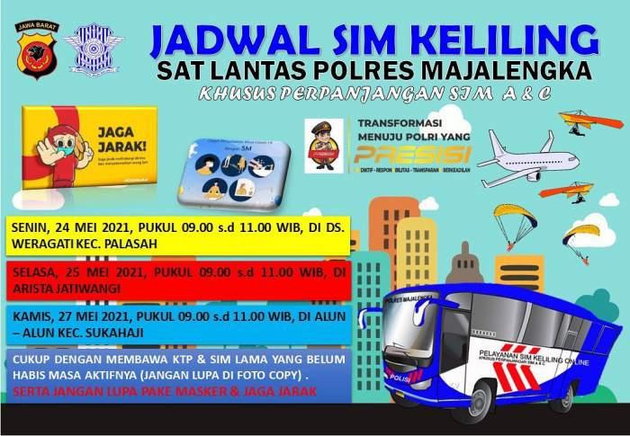 SIM Keliling Majalengka Bulan Mei 2021