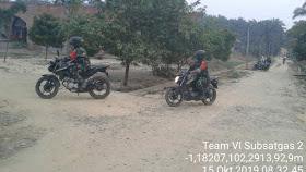Tim Dua Satgas Karhutla Koramil 416-04/Pulau Temiang Patroli Karhutla