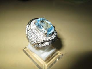 permata blue topaz indah