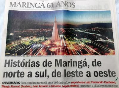 Capa O Diário Maringá 61 anos. Café com Jornalista