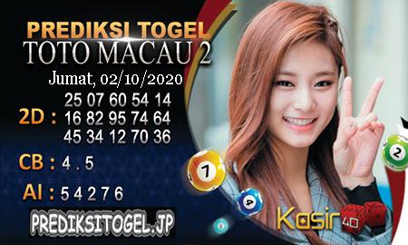 Prediksi Kasir4D Togel Macau Jumat 02 Oktober 2020