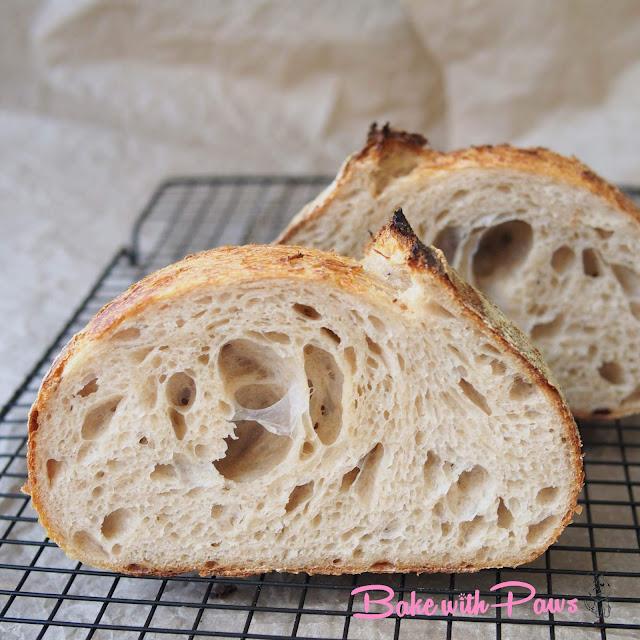 Basic Open Crumb Sourdough Bread