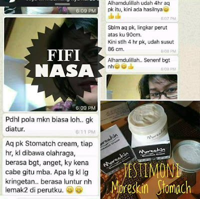 Testimoni Moreskin Stomatch Cream nasa