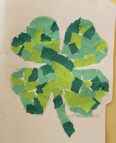 Shamrock Mosaic St Patrick's Day Kids Craft