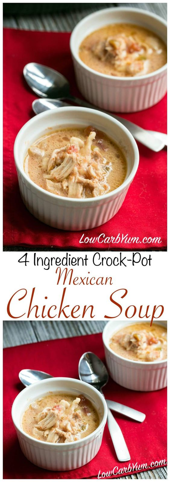 Slow Cooker Mexican Chicken Low Carb Soup