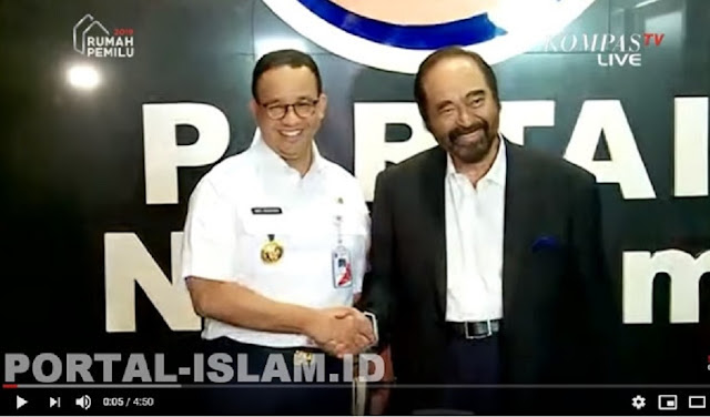 Surya Paloh Dukung Lahir Batin Anies Baswedan Capres 2024
