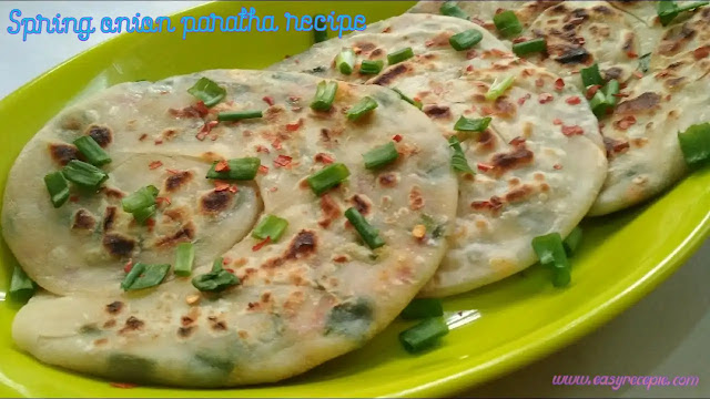 Spring onion paratha recipe easy to make at home