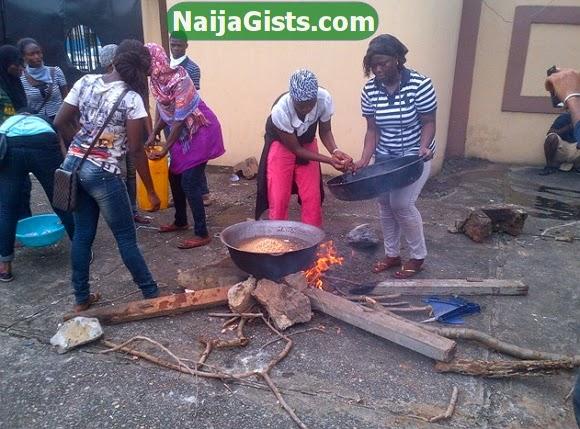 lasu students cooking fashola office