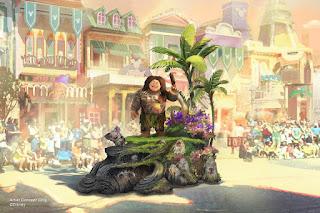 Maui Moana Themed Float Concept Art Magic Happens Disneyland Parade