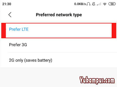 preferred 4g lte xiaomi