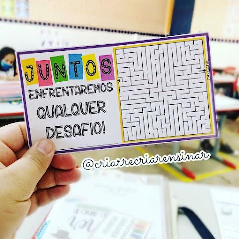 CARTÃO DE INCENTIVO PARA OS ALUNOS